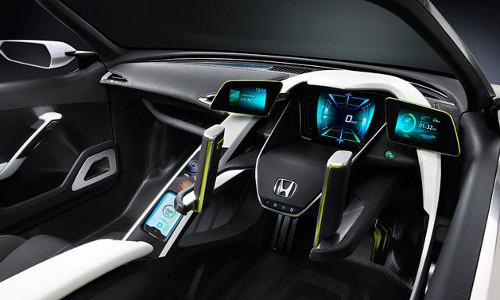 futuristic interior, Honda vehicle